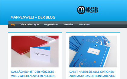 Blog mit der Blogsoftware WordPress